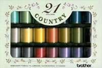 Brother CYT21 | Country Embroidery Thread Set 21 Colours