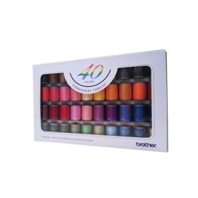 Brother ETS40   Embroidery Thread Set 40 Colours