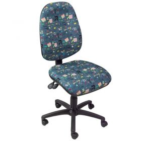 Horn Hobby Sewing Chairs-HORN HABBY GREY CANVAS FABRIC