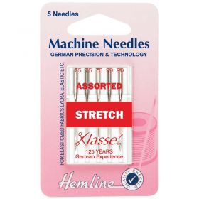 Hemline H102.99 | Sewing Machine Needles |  Stretch: Mixed: 5 Pieces Stretch Needles